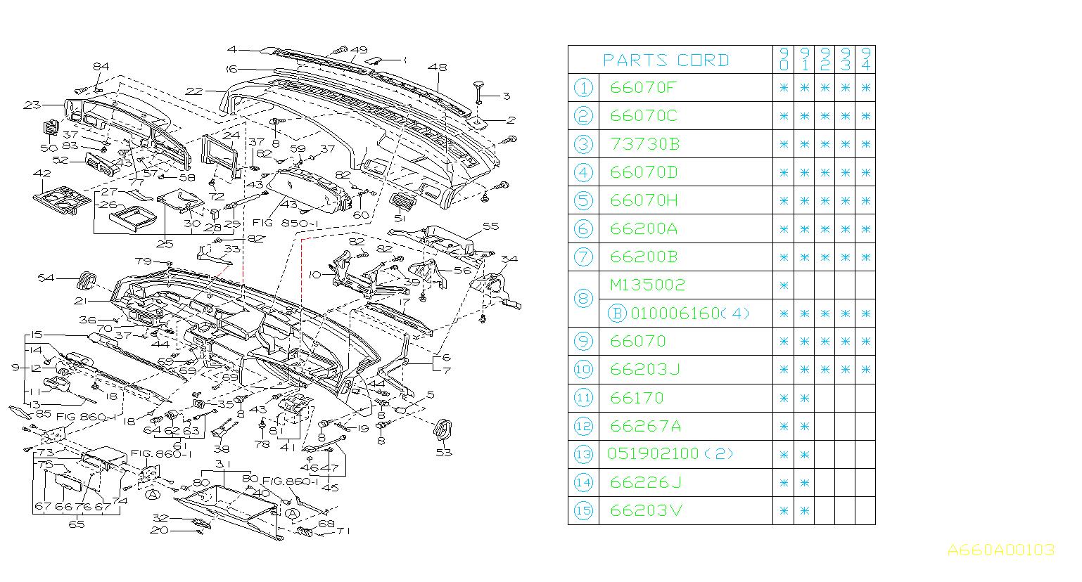 1990 Subaru Legacy Coin Box Assembly  Gray  Panel
