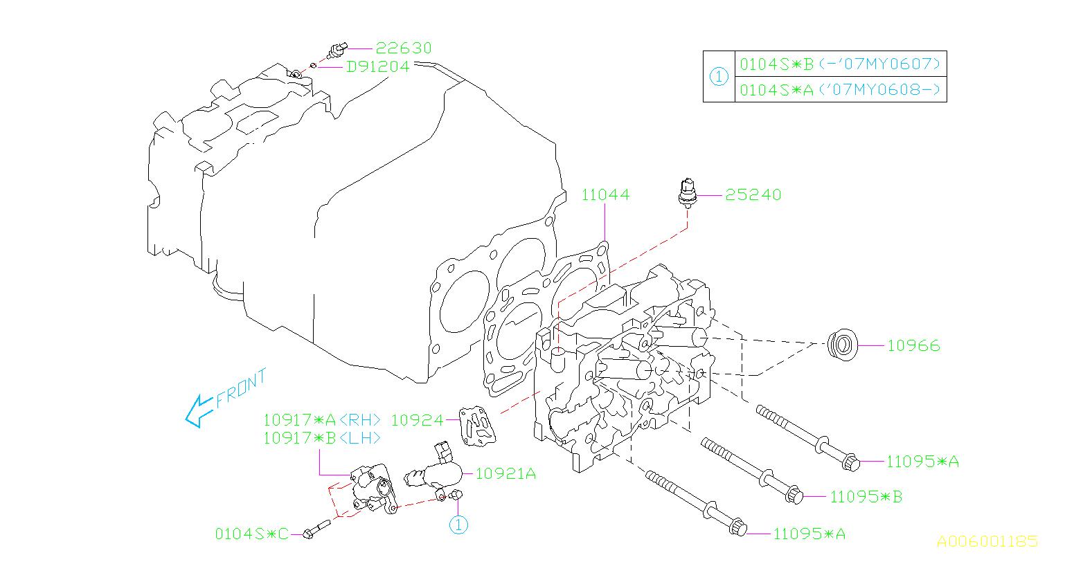 2006 Subaru Outback Engine Variable Valve Timing  Vvt