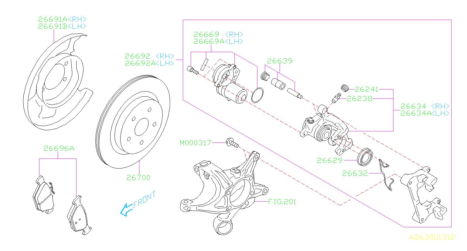 2015 Subaru Outback Brake Disk-rear  Maintenance  Parking  Brakes