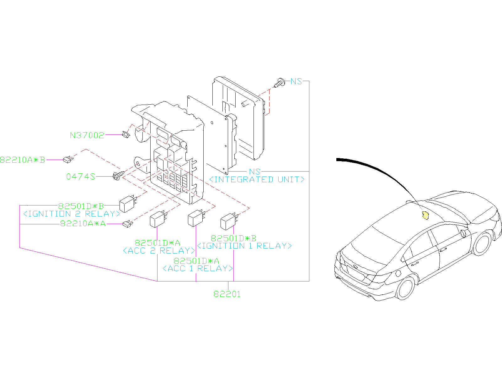 2015 Subaru Legacy Fuse