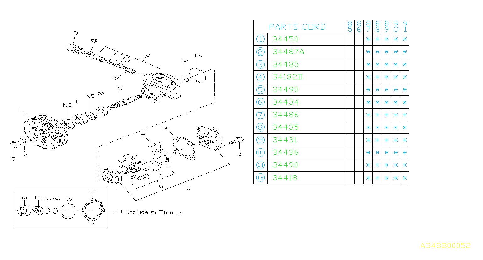 1990 Subaru Xt Repair Kit