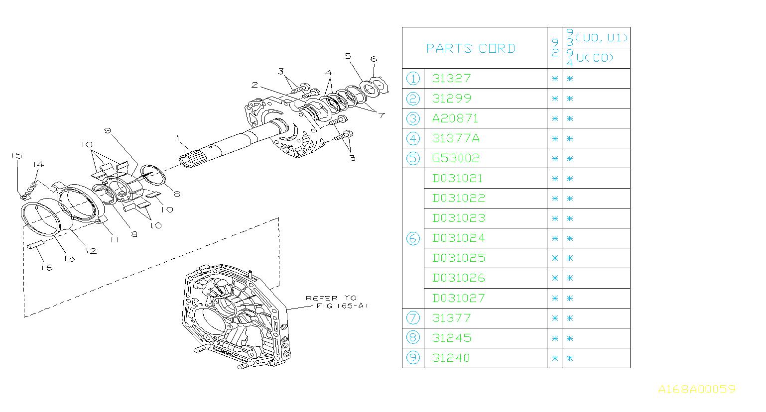 1992 Subaru Svx Washer Thrust  Reverse Clutch  T 1 7  T 1