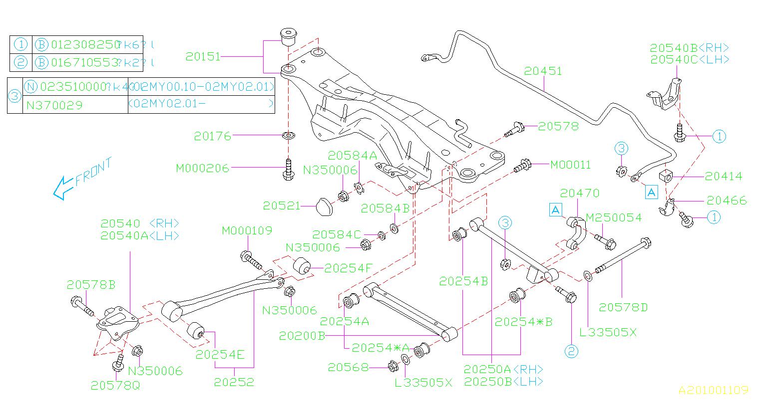 2004 Subaru Wrx Suspension Control Arm Bushing  Link