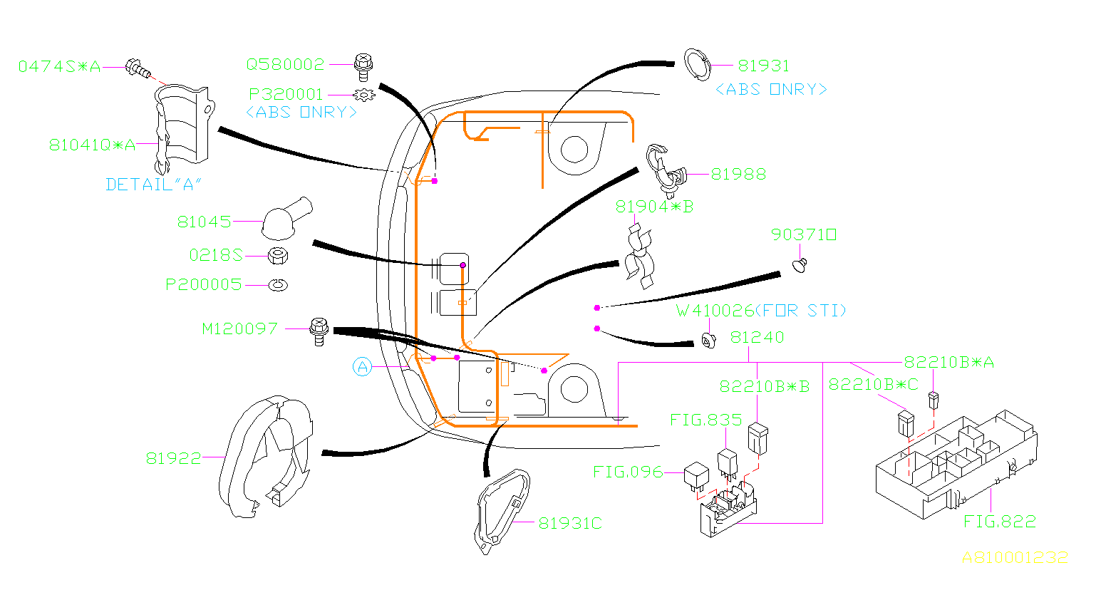 2007 subaru wrx clamp wiring main harness front. Black Bedroom Furniture Sets. Home Design Ideas