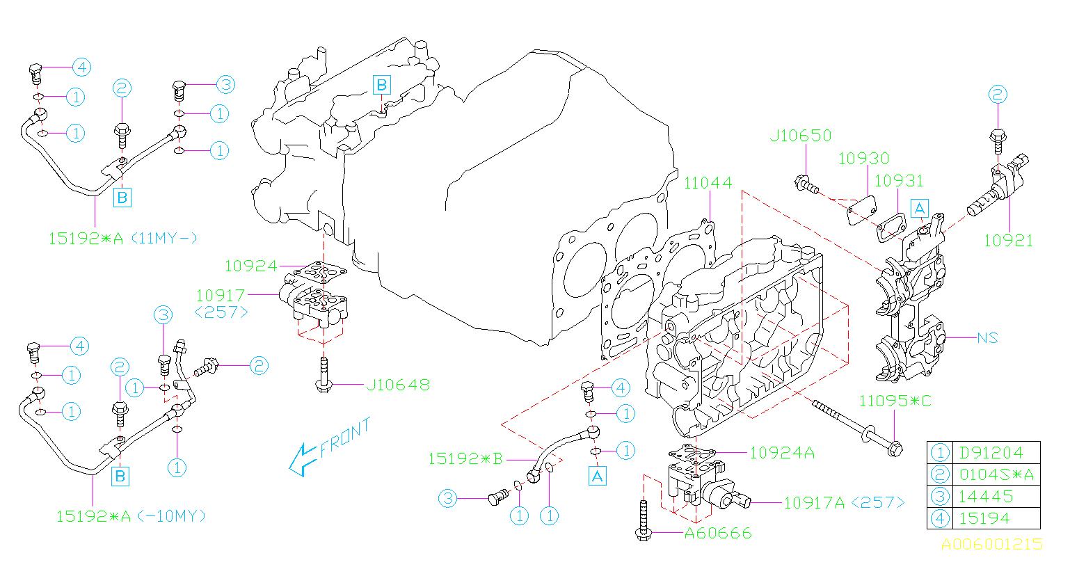 2009 subaru wrx valve assembly oil control cylinder. Black Bedroom Furniture Sets. Home Design Ideas