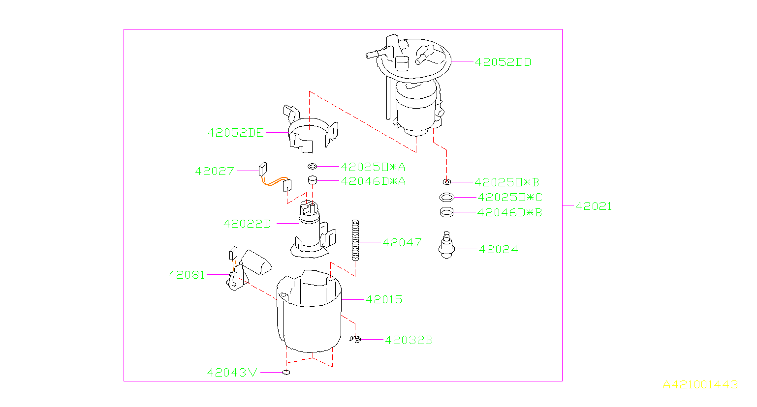 2016 Subaru Impreza Fuel Injection Pressure Regulator O