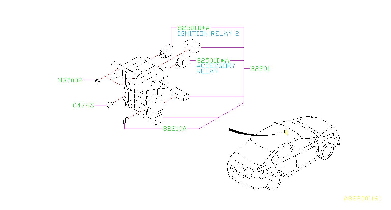 2012 Subaru Impreza Fuse  Box  Main  Electrical