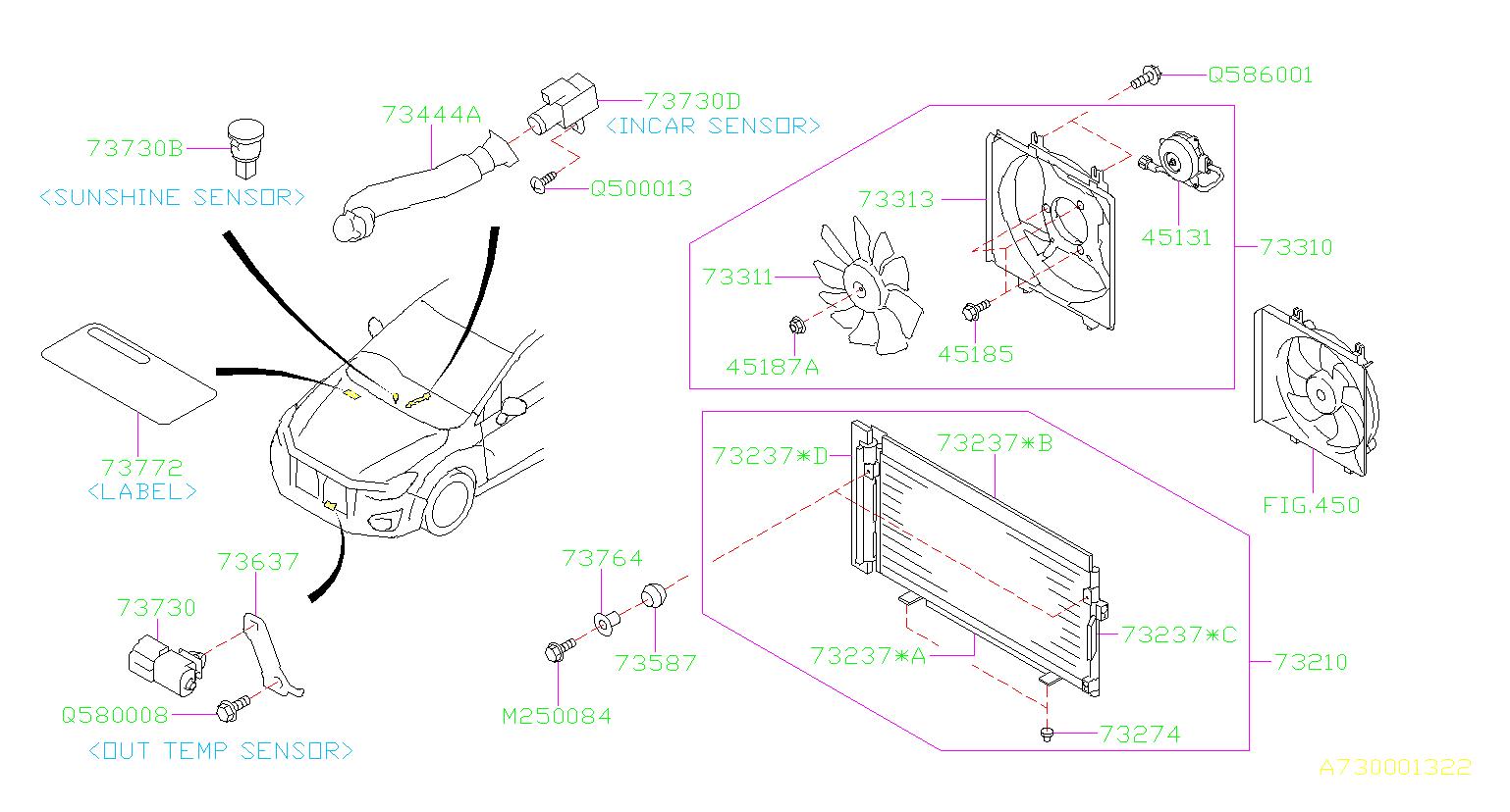 2015 Subaru Crosstrek A  C System Information Label  Label