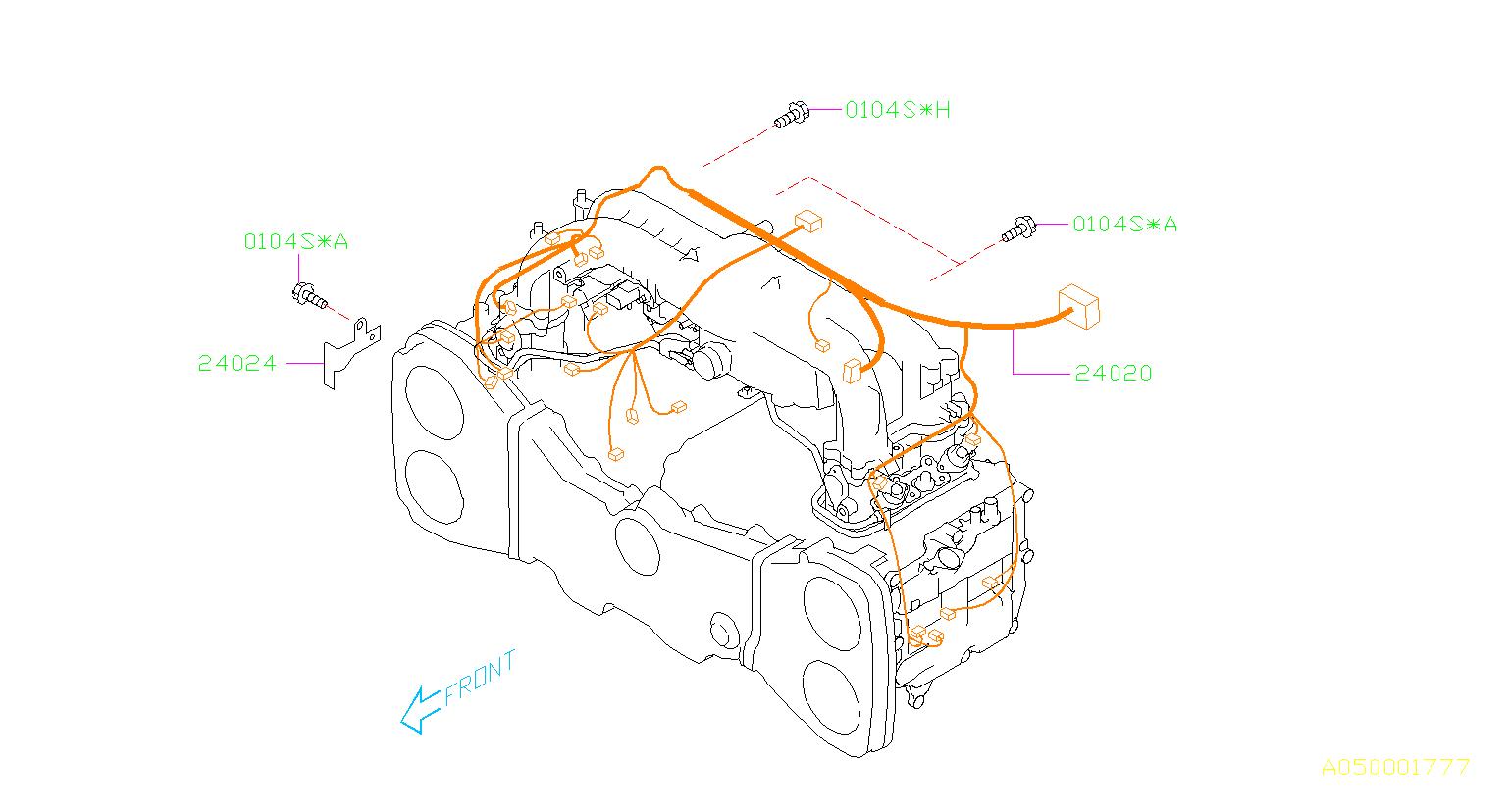 2010 Subaru Forester Engine Wiring Harness. Wiring harness ...