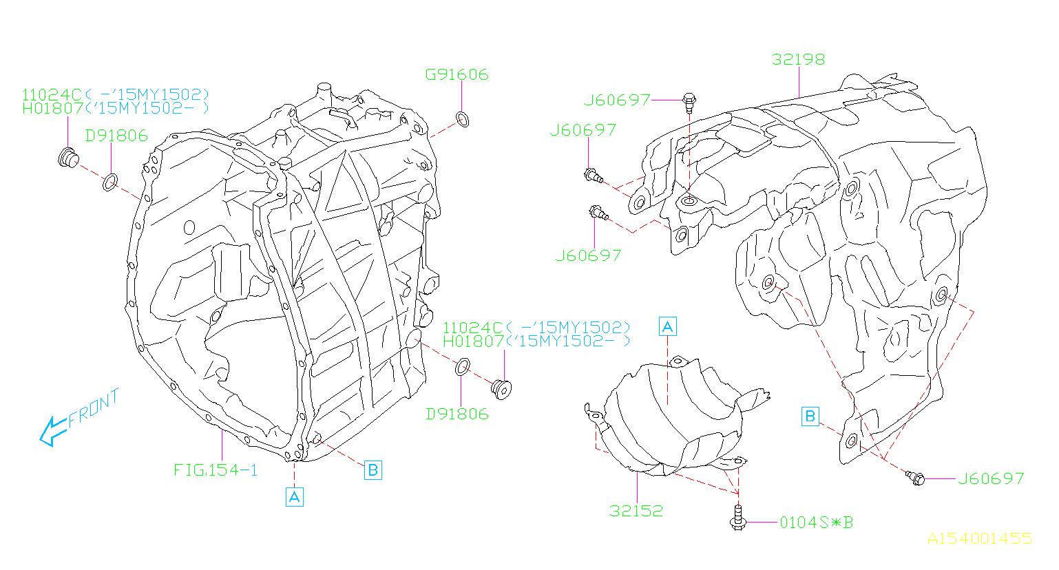 2017 Subaru Forester Bolt  Case  Transmission  Converter