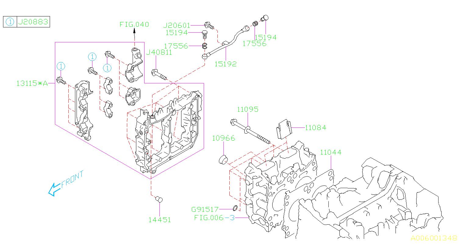 2017 Subaru Wrx Engine Cylinder Head Gasket  System  Cooling
