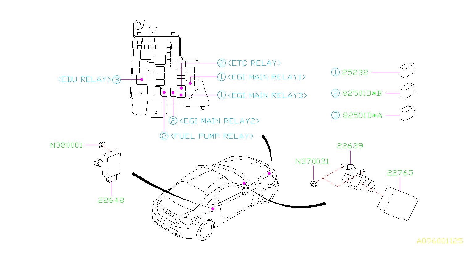 2013 Subaru BRZ Engine Control Module - 22765AG511 ...