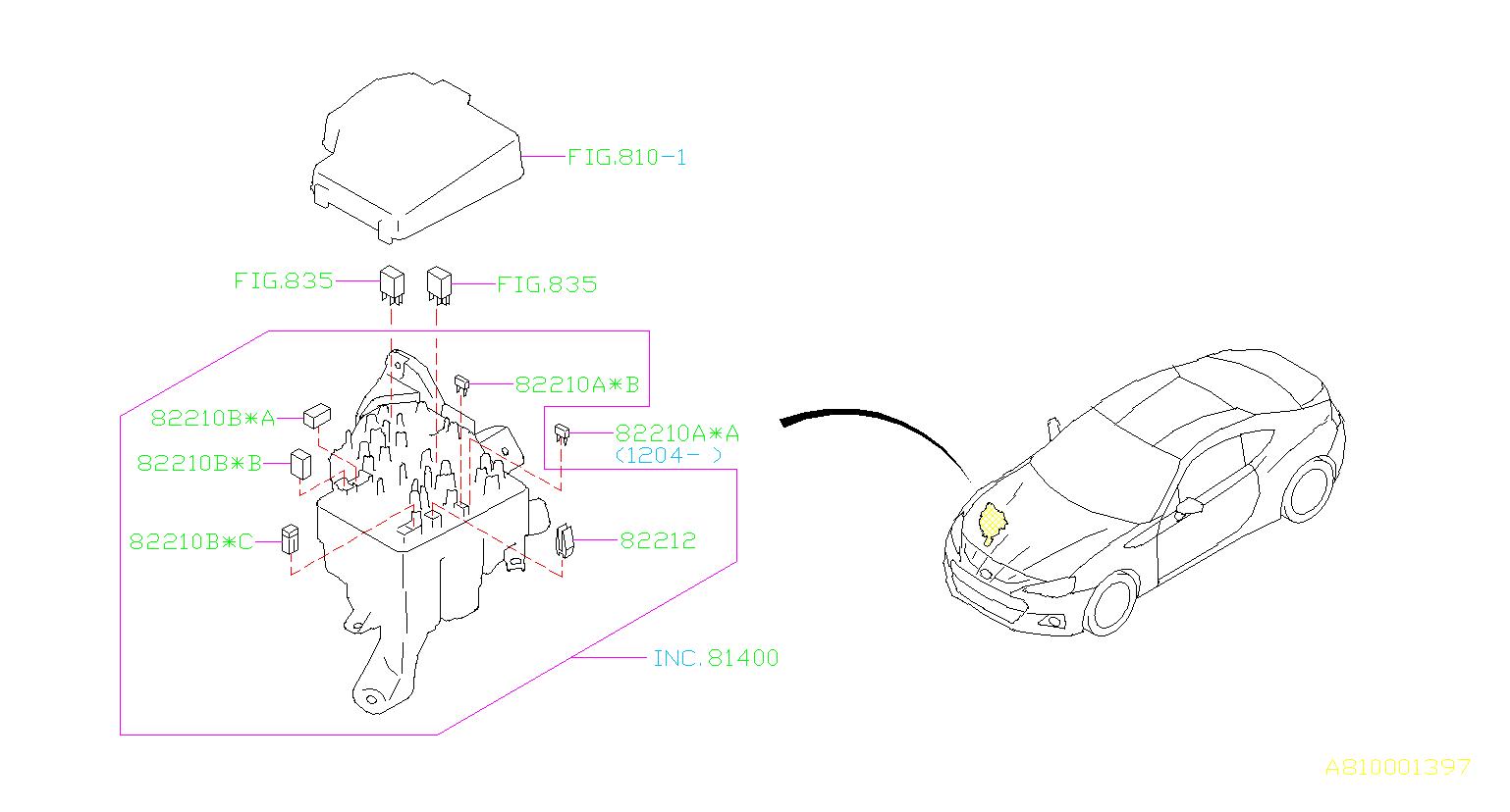 2014 Subaru Brz Fuse-auto  Box  Harness  Main