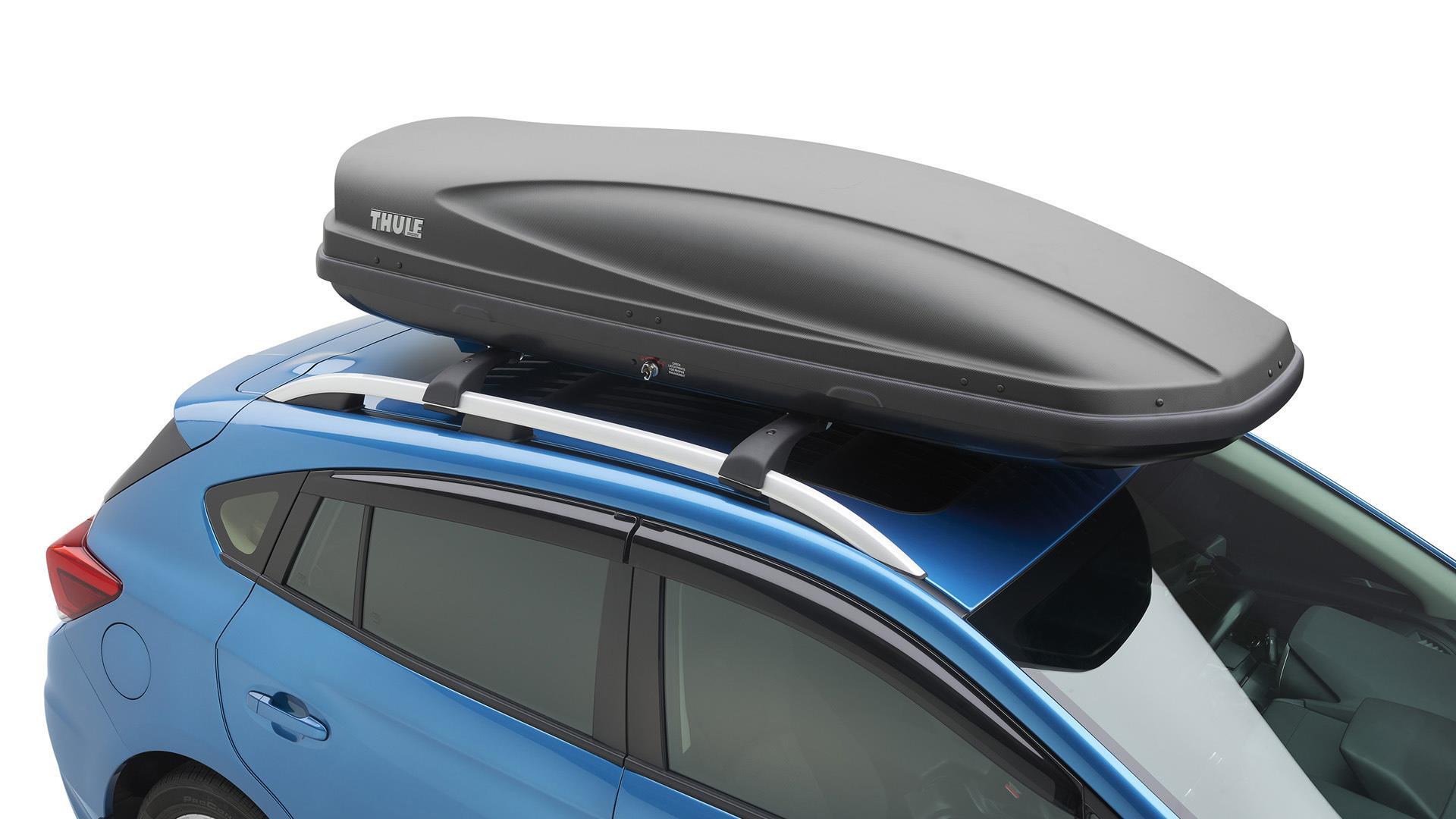 2017 subaru crosstrek thule roof cargo carrier extended. Black Bedroom Furniture Sets. Home Design Ideas
